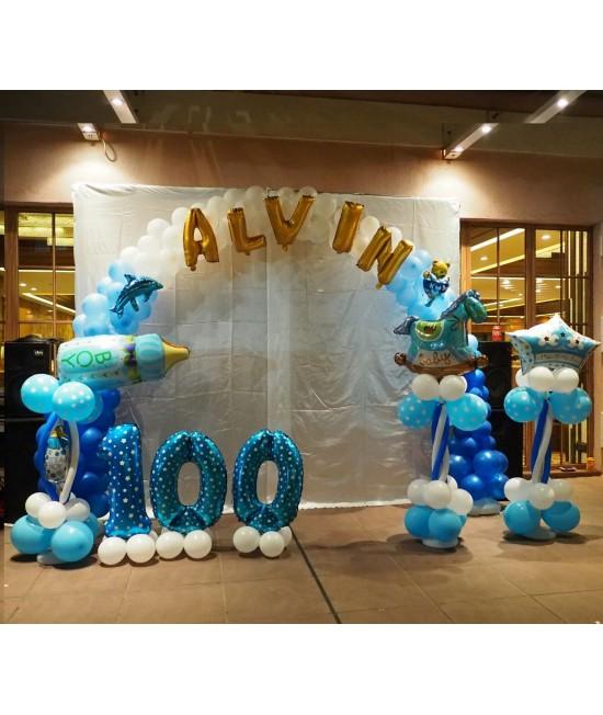 百日宴/派對氣球佈置 B (4小時)